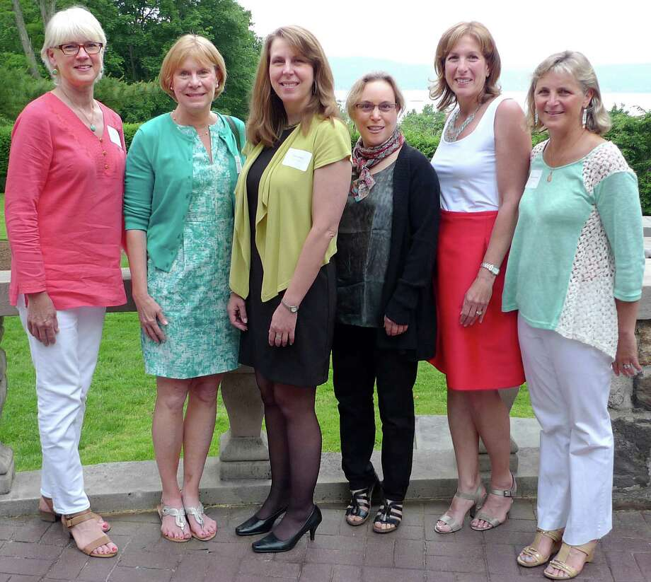 Members of 341 Studios winning team are, from left, Marla Laney; Gretchen Bruno, Pam Trickey, Carolyn Rie, Michele Graham and Felicia Rubinstein. Photo: Contributed Photo, Contributed / Darien News
