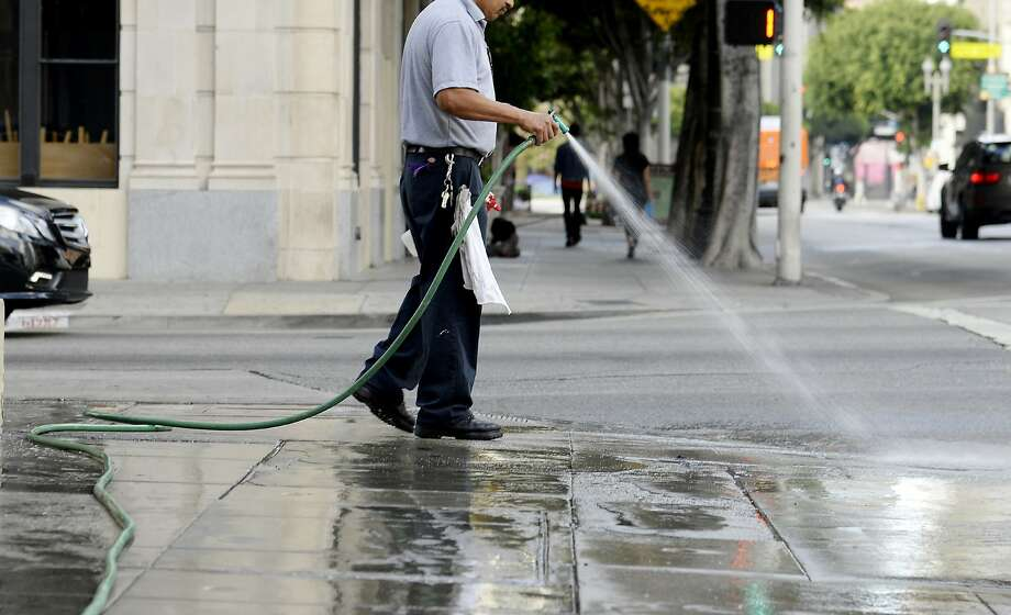 While excessive water use is easily spotted above ground, the Department of Water Resources estimates that 10 percent of California's treated drinking water is lost through leaks in the water system. Photo: Kevork Djansezian, Bloomberg