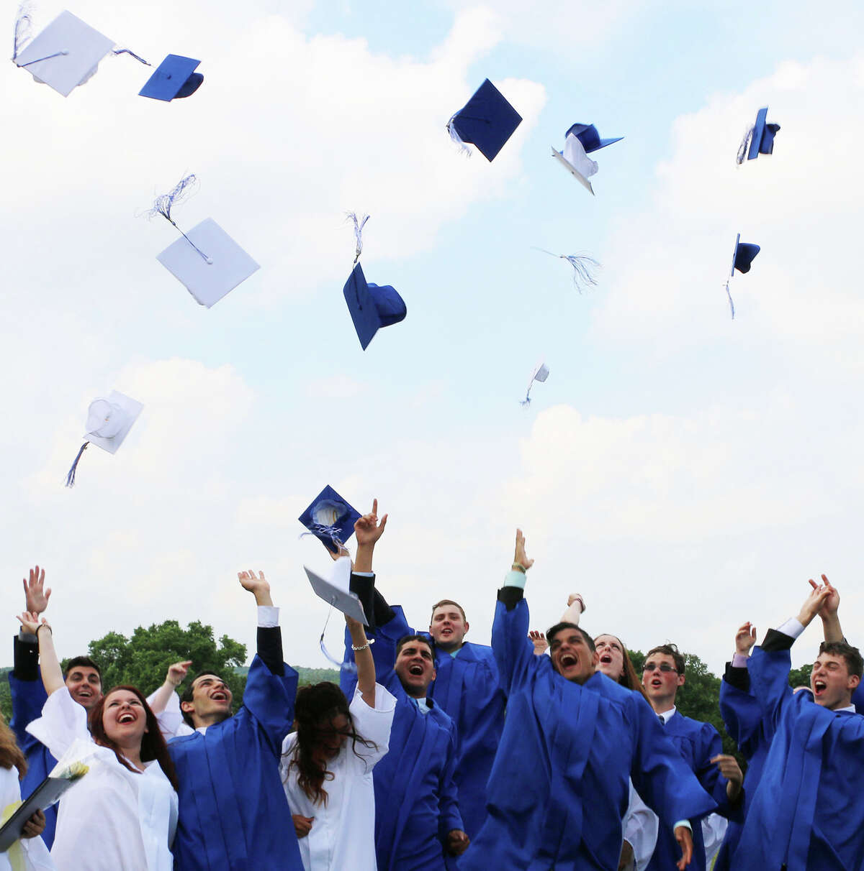 Graduates of the Devereux Glenholme School in Washington celebrate their big day. June 2014 Courtesy of Glenholme School