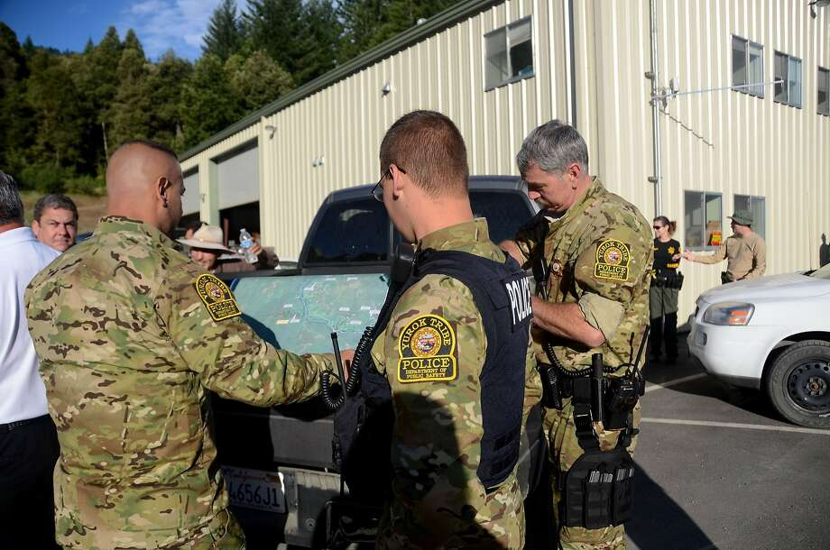 Yurok police are among several law enforcement agencies that are conducting raids on marijuana-growing operations in Humboldt County that have infringed on Indian land, water supplies and cultural activities. Photo: Lee Romney, McClatchy-Tribune News Service