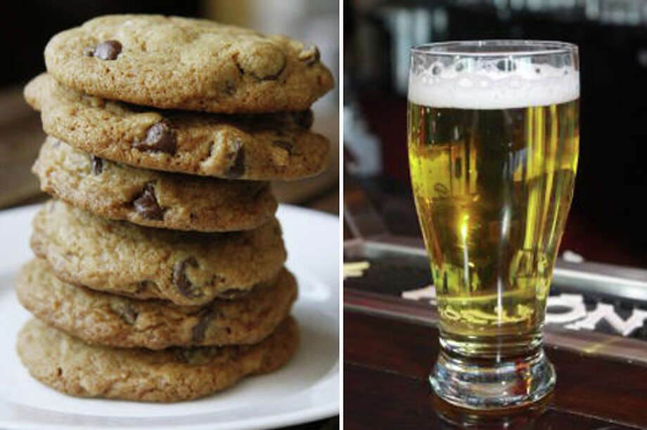 20) Chocolate chip cookies and beer Photo: Getty