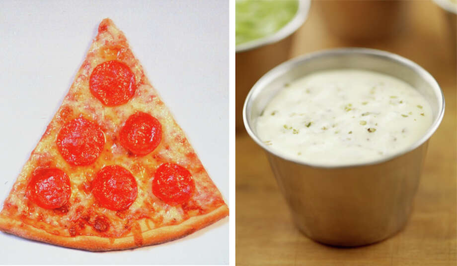 15) Pizza dipped in ranch Photo: Getty