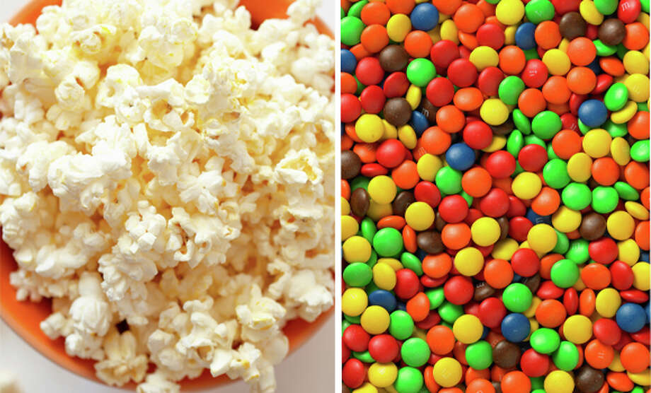 17) Popcorn and M&Ms Photo: Getty