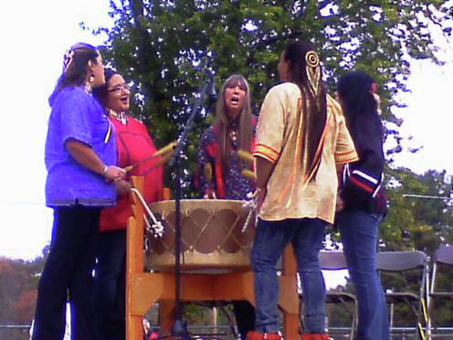 The all-female drumming group, Spirit of Thunderheart, will join a number of other performers that will help to celebrate the Ninth Annual Green Corn Festival at the Institute for American Indian Studies in Washington, Conn., on Saturday, Aug. 2, 2014. For more information, call 860-868-0518 or visit www.birdstone.org. Photo: Contributed Photo / Stamford Advocate Contributed photo