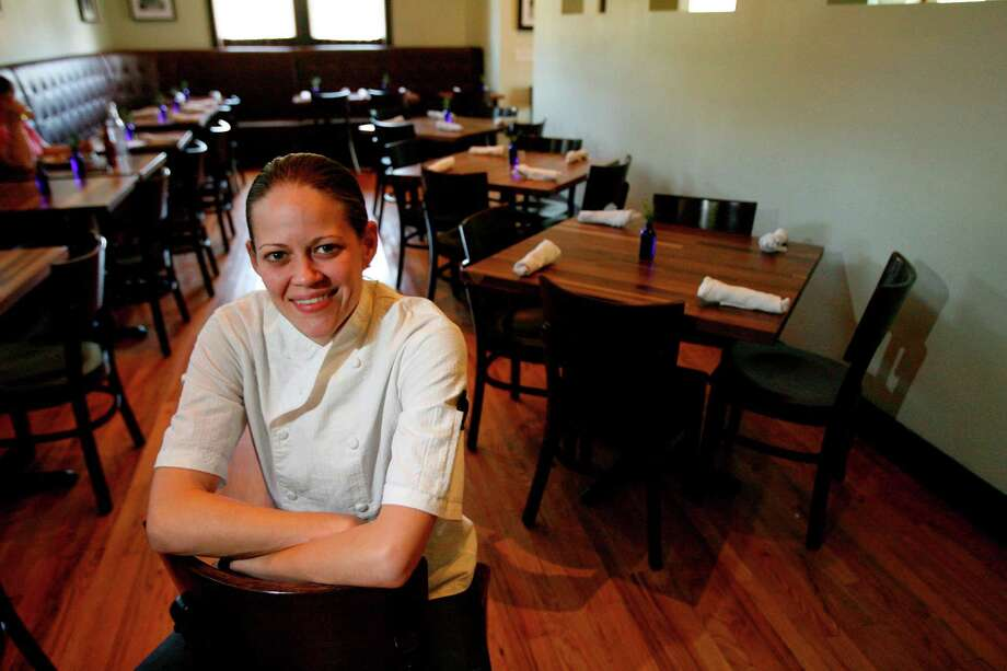 Jamie Zelko, recently opened a new restaurant in a location that used to be a bungalow house in the heights, poses for the Chronicle on Thursday, May 6, 2010, in Houston. ( Julio Cortez / Chronicle ) Photo: Julio Cortez, HC Staff / Houston Chronicle