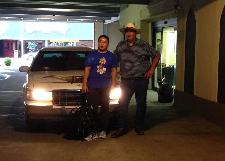 A Cadillac owner from China arrives in Amarillo. Photo: Courtesy/Open Road Productions