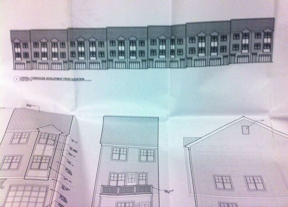 An artist's rendering of the 13-unit Laurel Hill townhomes slated to be constructed on the north side of Laurel Hill Road as part of the Four Corners revitalization project. Photo: Contributed Photo / The News-Times Contributed