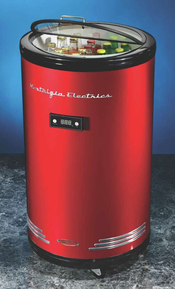 Another great cooler! Say goodbye to drippy, wet cans. Nostalgia electrics' retro cooler will keep your beverages perfectly chilled, with no ice required. Adjustable thermostat and easy to roll design are just two of its great features. Visit the manufacturer's website here.  Photo: Renee Kalmar, Credit