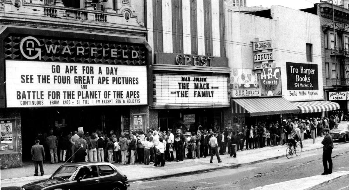The Warfield was one of the biggest theaters on Market Street's cinema row, playing movies up until the 1970s.