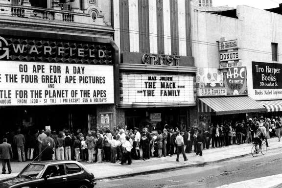 THE WARFIELD (March 3, 1973): The Warfield was one of the biggest theaters on Market Street's cinema row, playing movies up until the 1970s.