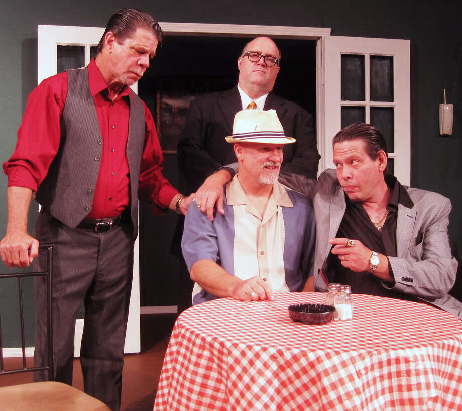 "Larry Lapaglia (clockwise from left), Robert Moritz, Allen Rudolph and Cliff Luttrell appear in the Boerne Community Theatre staging of ""Breaking Legs."" Photo: Courtesy Christine Crowley"