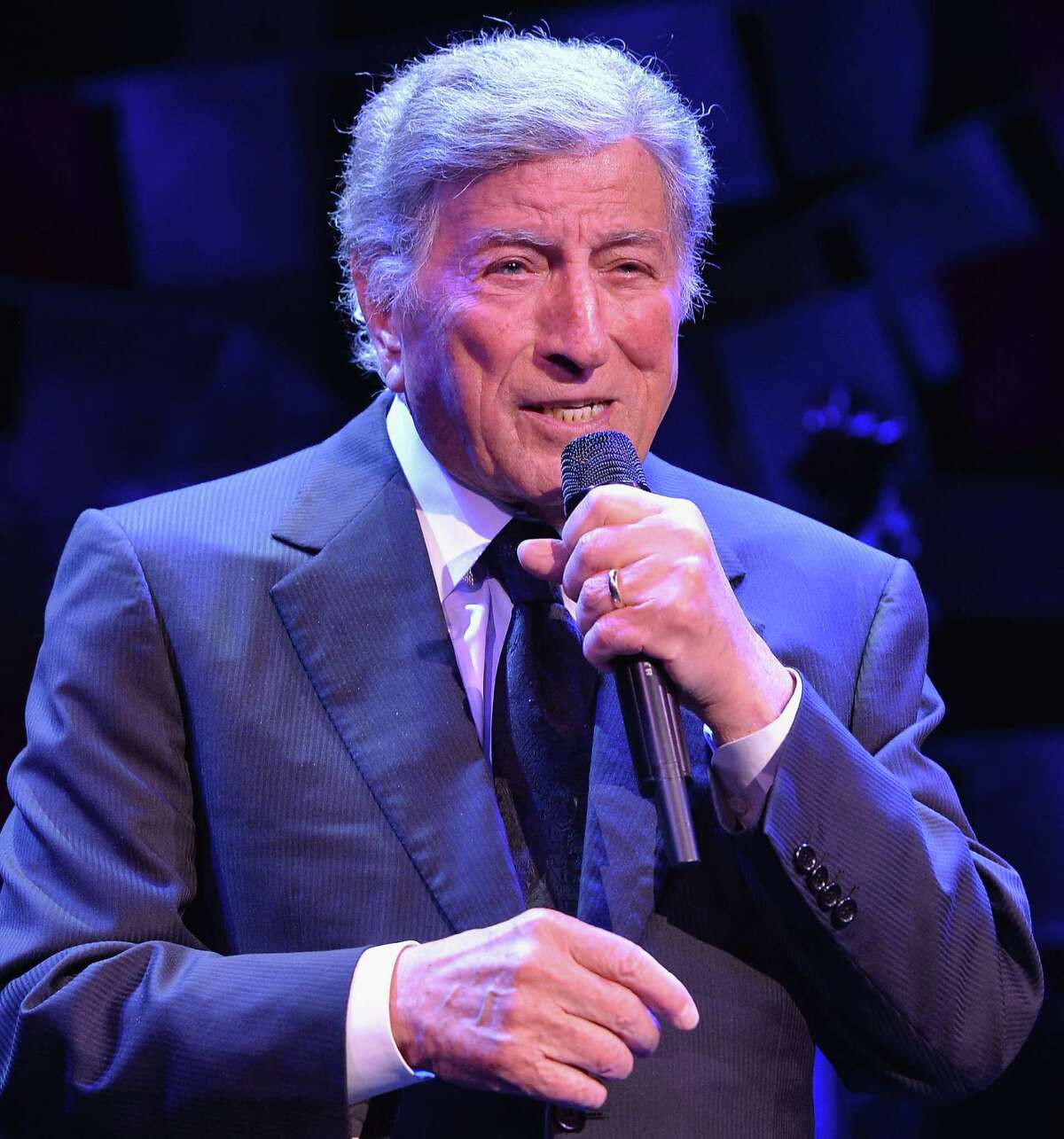 NEW YORK, NY - APRIL 02: Tony Bennett performs onstage at the SeriousFun Children's Network Gala at Cipriani 42nd Street on April 2, 2014 in New York City.
