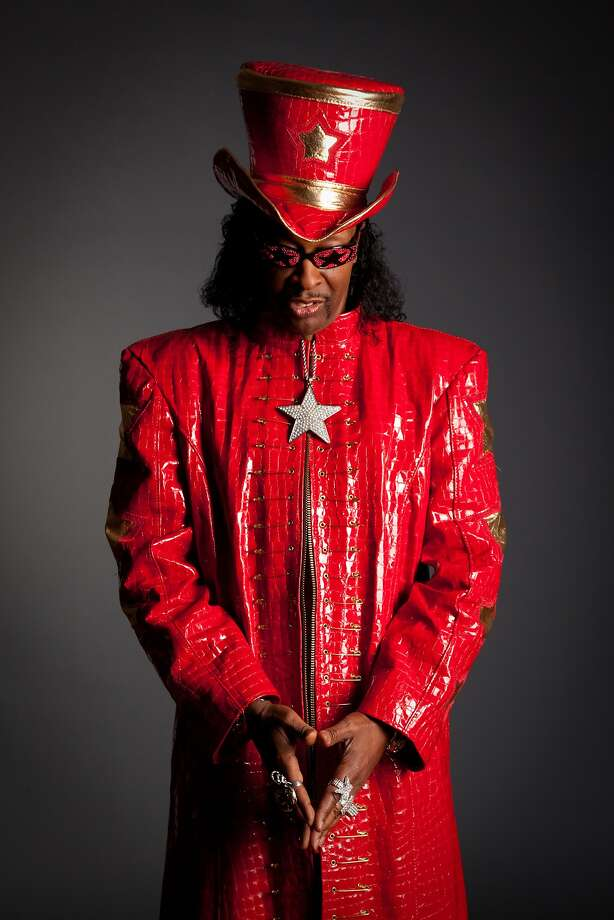 Funk maestro and bassist Bootsy Collins stars as a headliner at the 25th anniversary San Jose Jazz Summer Fest. Photo: Alias Imaging, Mascot Records