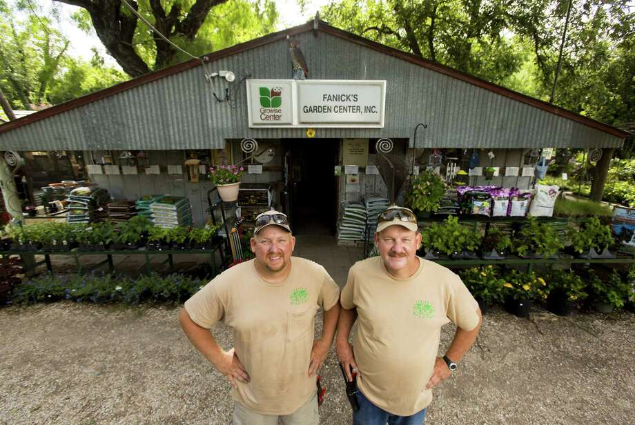 Mike (left) and Mark Fanick's grandfather Eddie Fanick started Fanick's Garden Center on the East Side in 1938. Photo: William Luther / San Antonio Express-News / © 2014 San Antonio Express-News