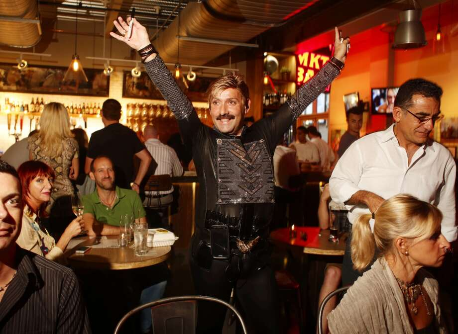 Juan Carlos at the watch party Photo: Johnny Hanson, Chronicle