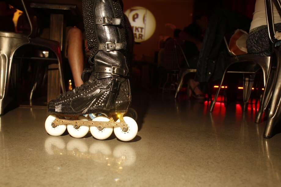 Juan Carlos' fashionable skates. Photo: Johnny Hanson, Chronicle