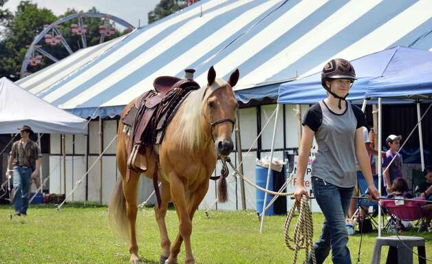 Molly Alger, 16, of Greenfield leads her horse Tater on opening day of the Saratoga County Fair Tuesday July 22, 2014, in Ballston Spa, NY.  (John Carl D'Annibale / Times Union) Photo: John Carl D'Annibale / 00027870A