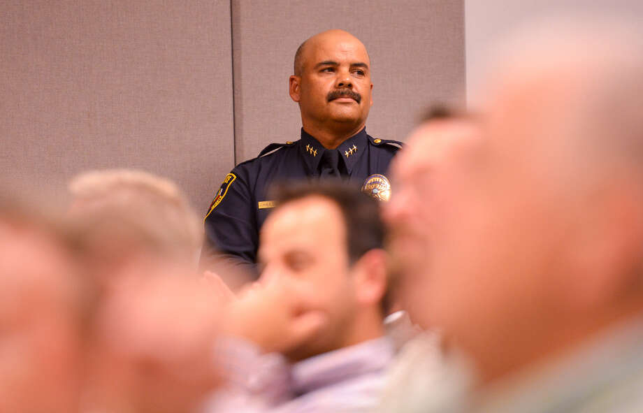 Henry Dominguez was fired as Balcones Heights police chief last month. His attorney has said the city admin- istrator is out to get him. Photo: Robin Jerstad, For The Express-News / San Antonio Express-News