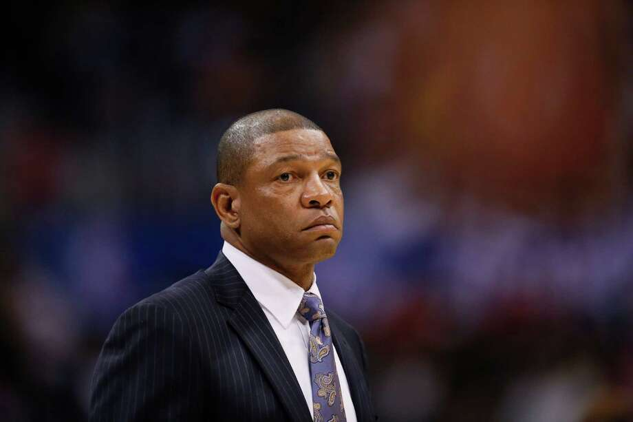 Los Angeles Clippers head coach Doc Rivers looks on against the Sacramento Kings during the first half of an NBA basketball game in Los Angeles, Saturday, April 12, 2014. The Clippers won 117-101. (AP Photo/Danny Moloshok) Photo: Danny Moloshok, FRE / FR161655 AP