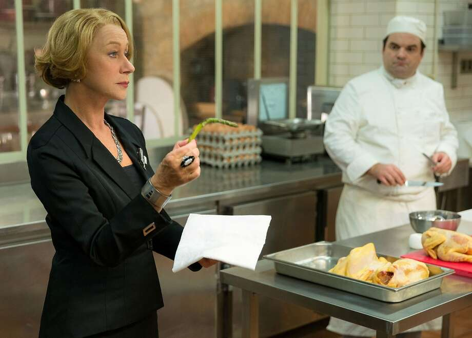 "Despairagus Madame Mallory (Dame Helen Mirren) demands that even the vegetables in her haute-cuisine, French restaurant stand at attention. ""The Hundred-Foot Journey"" opens August 8 at Bay Area theatres. Photo courtesy of DreamWorks Pictures.    HFJ-0003r ..Academy Award?-winner Helen Mirren stars as Madame Mallory, the chef proprietress of a classical Michelin-starred French restaurant, in DreamWorks Pictures? charming film, ?The Hundred-Foot Journey.? Based on the novel ?The Hundred-Foot Journey? by Richard C. Morais, the film is directed by Lasse Hallstr?m. The producers are Steven Spielberg, Oprah Winfrey and Juliet Blake. Photo: Fran?ois Duhamel ..?2014 DreamWorks II Distribution Co., LLC. All Rights Reserved. Photo: DreamWorks"