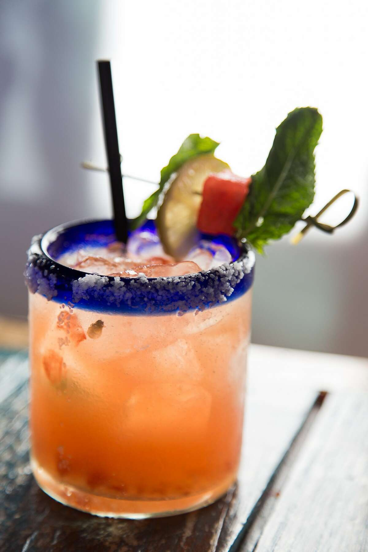 A watermelon mint margarita at Fish Gaucho in Paso Robles, Calif., Monday July 22, 2014.