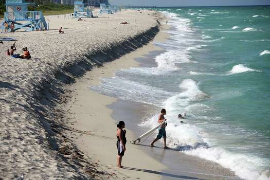 10) Florida seems to offer everything in abundance. Hot temperatures,  the most boats and boating accidents, high chances of rain, lots of  sharks and shoreline, and some chart topping beaches. Photo: ANGEL VALENTIN, File / NYTNS