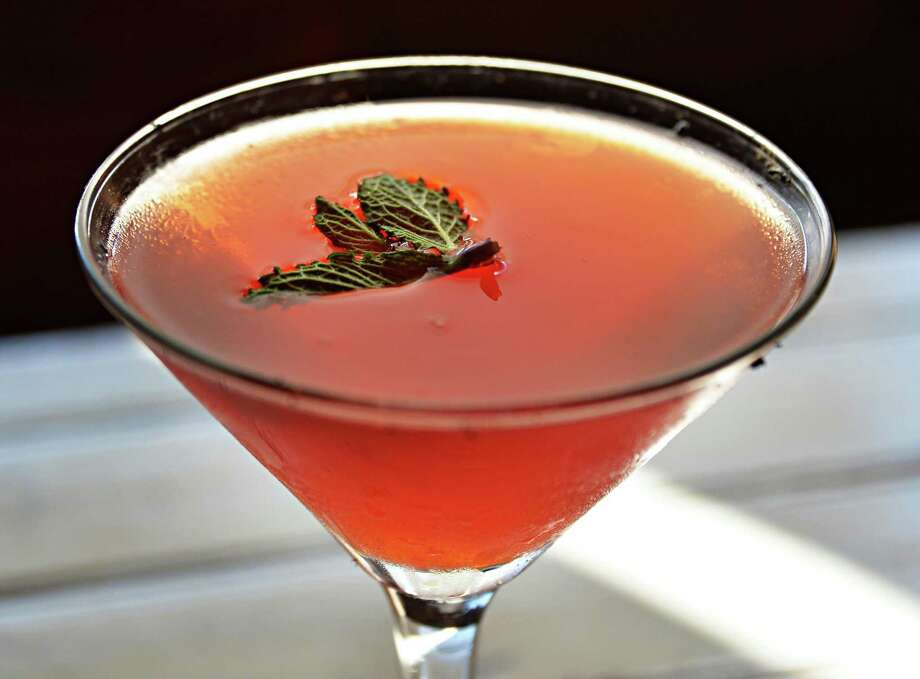 Costa de la luz, a strawberry-bourbon cocktail at Boca Bistro Wednesday July 9, 2014, in Saratoga Springs, NY.  (John Carl D'Annibale / Times Union) Photo: John Carl D'Annibale / 00027719A