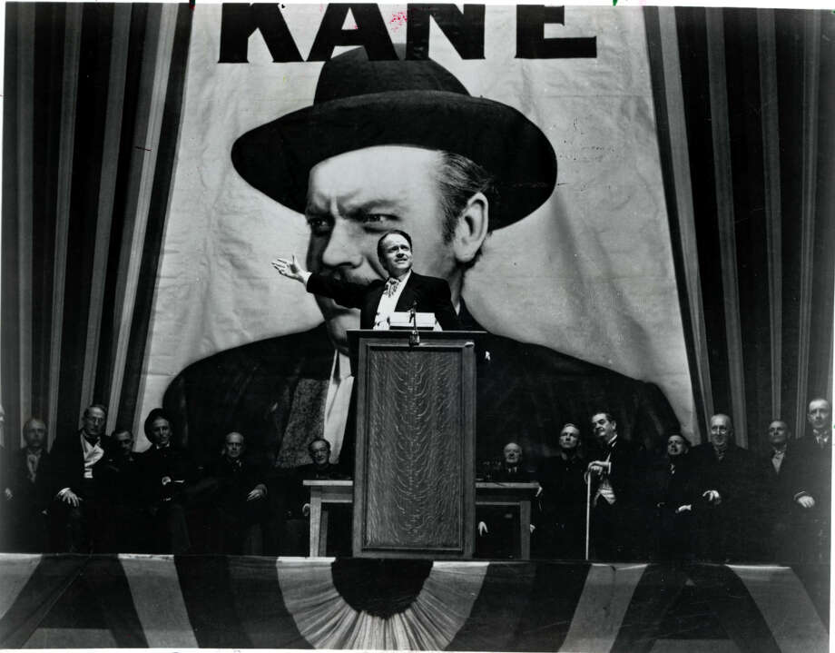 "Orson Welles as Charles Foster Kane.  ""Citizen Kane"" HOUCHRON CAPTION (06/17/1998): Orson Welles wrote, directed and starred in ""Citizen Kane,""which the American Film Institute considers the greatest American movie of all time.  HOUCHRON CAPTION (07/04/2001):  A DVD version of ""Citizen Kane"" will be released this fall. Orson Welles, above in character as Charles Foster Kane, co-wrote, produced, directed and starred in the 1941 film. / handout"