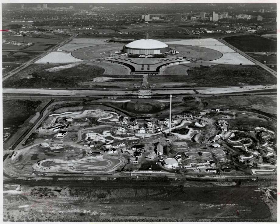 Astroworld and Astrodome - January 1968. Photo: Gulf Photo