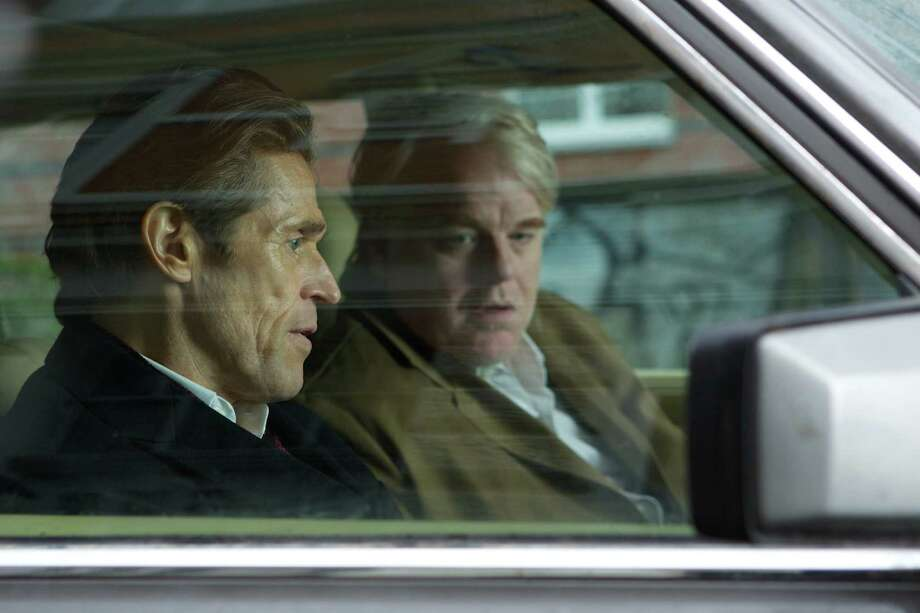 Willem Dafoe and Philip Seymour Hoffman in A MOST WANTED MAN.