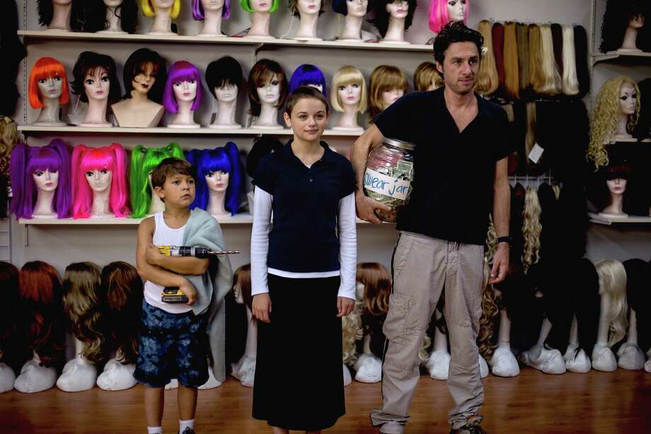 "This image released by Focus Features shows, from left, Pierce Gagnon, Joey King, and Zach Braff in ""Wish I Was Here."" (AP Photo/Focus Features, Merie Weismiller Wallace) ORG XMIT: NYET542 Photo: Merie Weismiller Wallace / Focus Features"