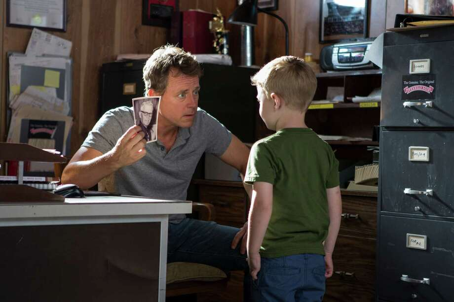 "This image released by Sony Pictures shows Greg Kinnear, left, and Connor Corum in a scene from ""Heaven Is For Real."" (AP Photo/Sony Pictures, Allen Fraser) ORG XMIT: NYET126 Photo: Allen Fraser / Sony Pictures"