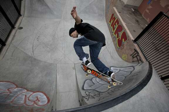 Lane skates at the SOMA West Skate Park on July 18, 2014 in San Francisco, CA.
