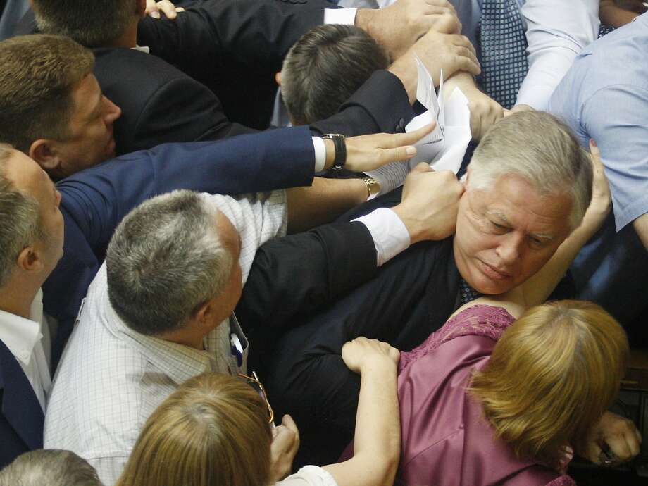 "Not all agree with his organ-harvesting claim: Deputies of the All-Ukrainian Union ""Svoboda"" party attack the head of the Communist parliamentary 