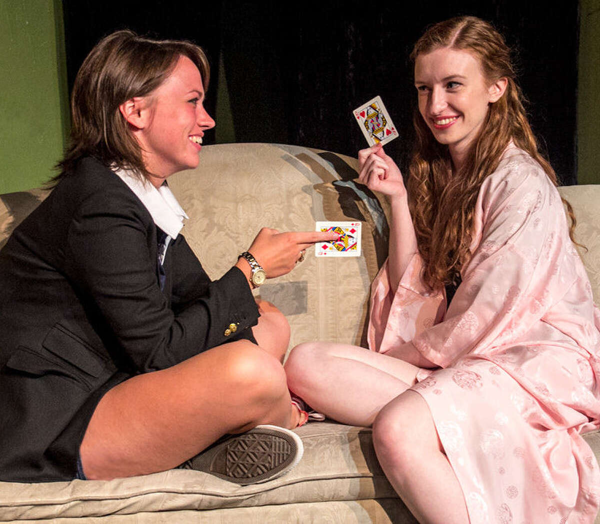 Bridget Melley (from left) and Sarah Nixon are part of the cast of