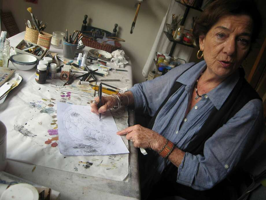 Artist Teresa Cito praises Mexico's program in which artists donate part of their annual production in lieu of paying taxes. Photo: Tim Johnson, McClatchy-Tribune News Service
