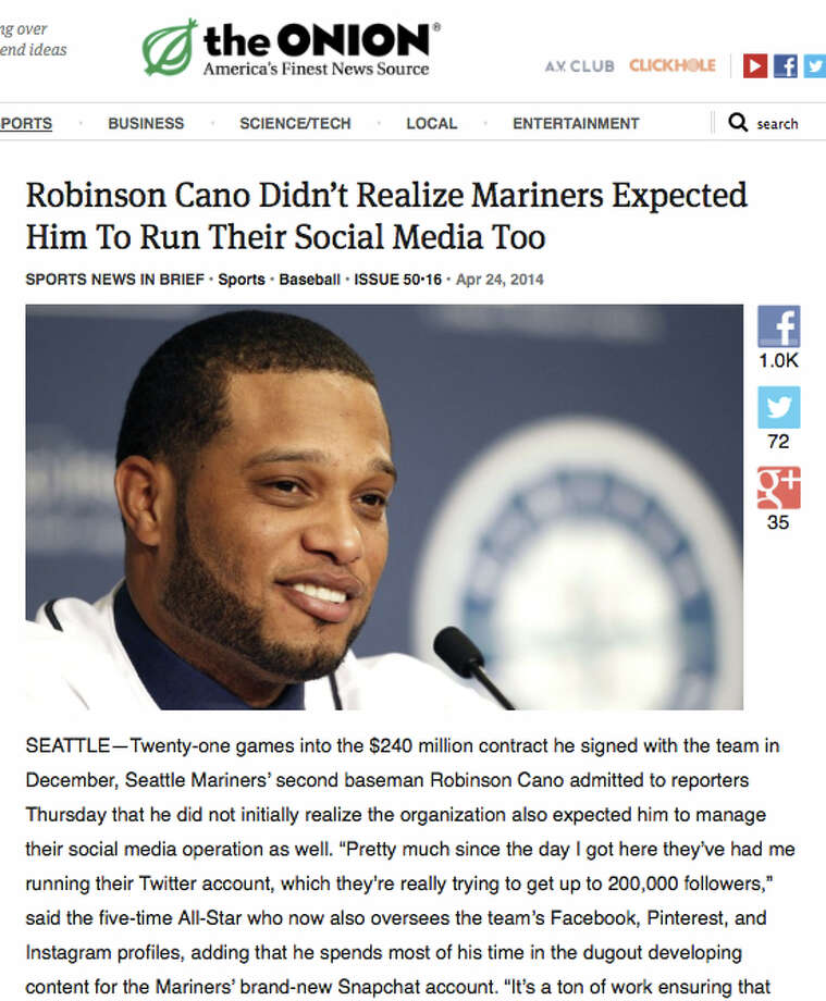 Is Cano the next Junior? Well, he's expected to be that and much much more for our beleaguered Mariners. (See The Onion's article.) Photo: Multiple