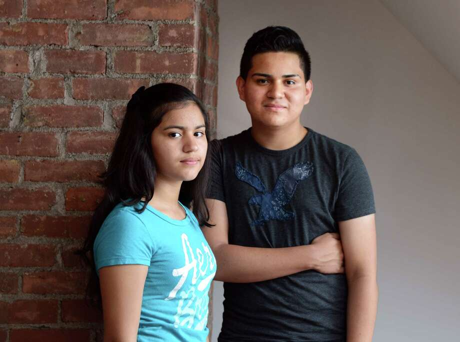 Siblings Johanna, 14, and Wilber, 16, originally from El Salvador, are among the many children who have fled Central America to escape violence. Photo: Autumn Driscoll / Connecticut Post