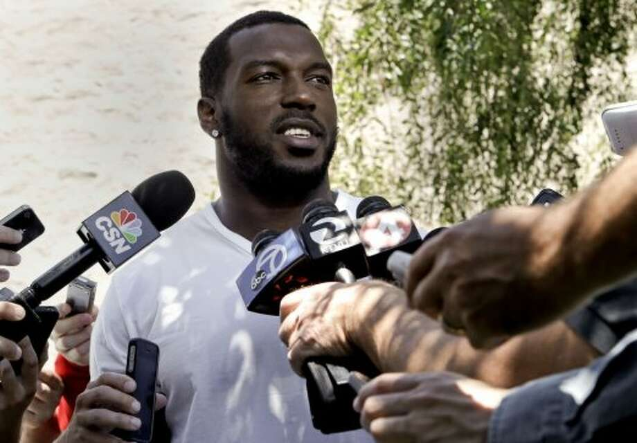 Linebacker Patrick Willis, (52) talks with the news media as the San Francisco 49ers' veteran players reported to training camp today to prepare for the 2014 season at their practice facility in Santa Clara, Calif., as seen on Wednesday July 23, 2014. Photo: Michael Macor, The Chronicle