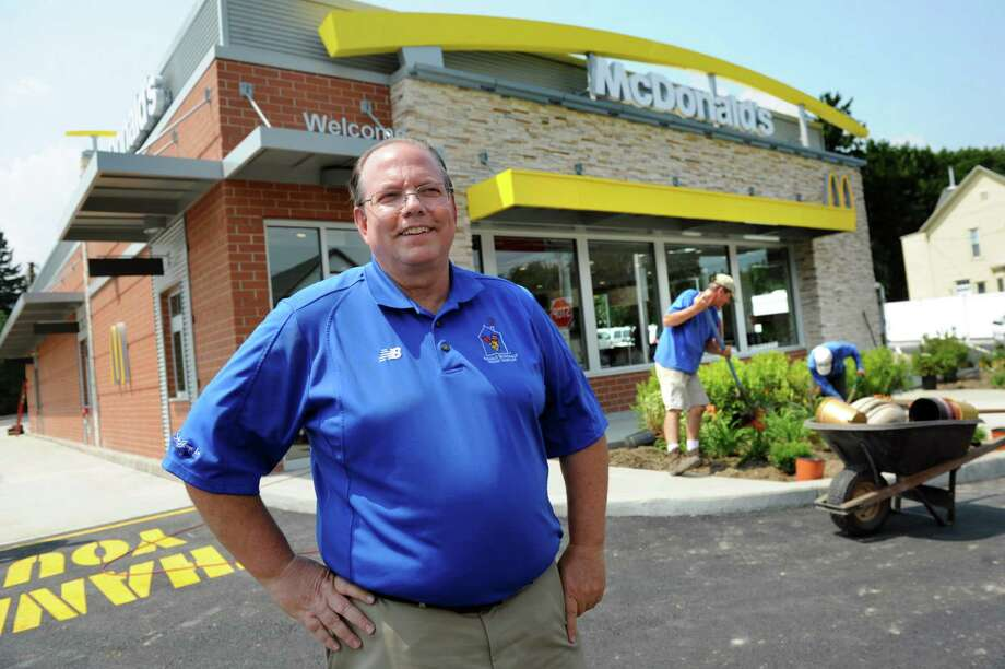 Owner and operator Roger Grout oversees final preparations on Wednesday, July 23, 2014, at McDonald's in Waterford, N.Y. The business, which was ruined by a fire on Dec. 7, 2013, is due to open on July 29 at 11 a.m. The grand opening and flag raising with the Northside Fire District is scheduled for Aug. 6. (Cindy Schultz / Times Union) Photo: Cindy Schultz / 00027893A