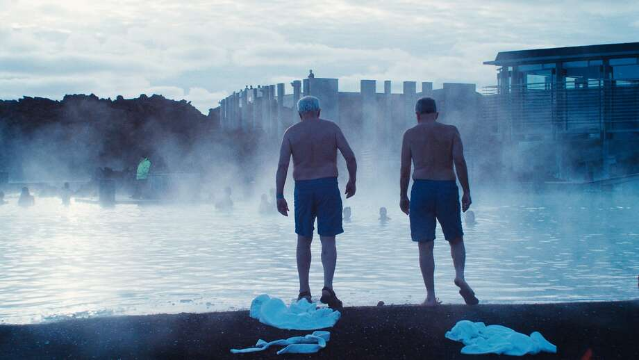 """Mitch (Earl Lynn Nelson) and Colin (Paul Eenhoorn) are elderly friends who travel to Iceland to recharge in """"Land Ho!"""" Photo: Andrew Reed, Sony Pictures Classics"""