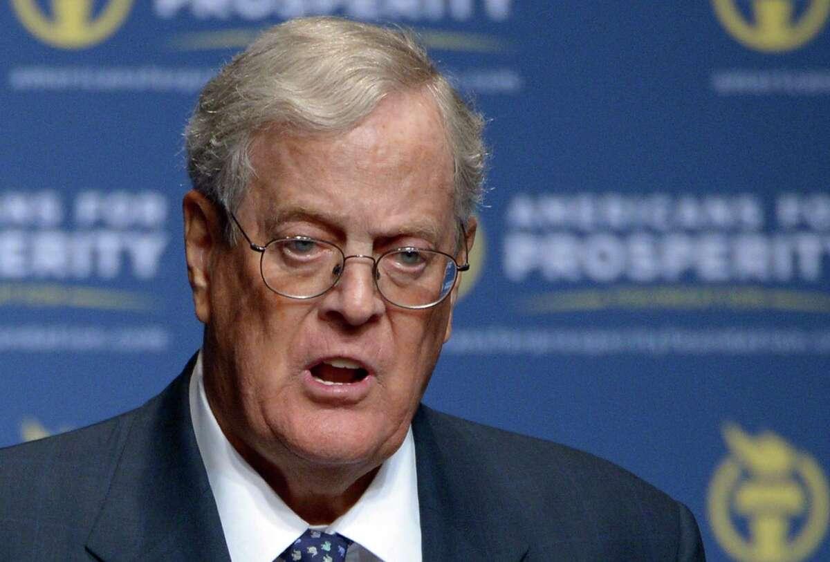 Name: David Koch - 10 This year's net worth: $39.6 Source: Koch Industries Country: U.S.
