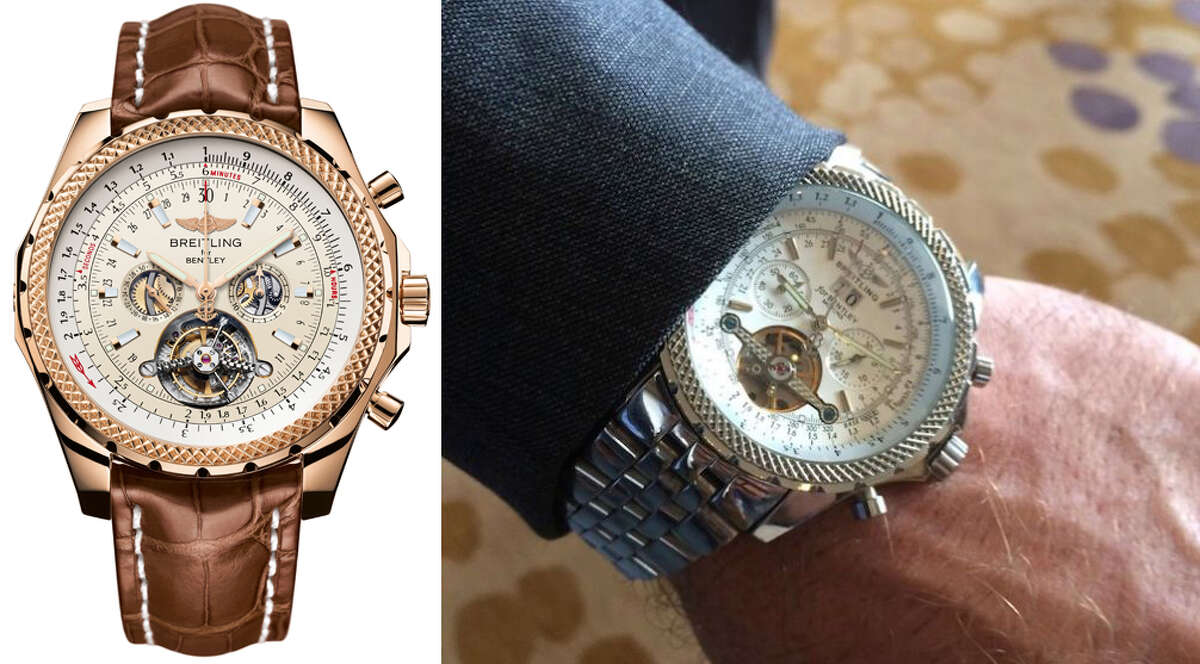 Can you spot the differences?This expert can ... A spokesperson for Breitling spotlights some of the key differences between its real Breitling for Bentley watch and a counterfeit worn by Texas Tech football coach Kliff Kingsbury. (Composite: photo at left courtesy Breitling for Bentley; photo at right courtesy Ben Baby/Denton Record-Chronicle)