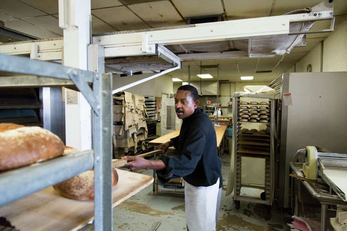 Hush-Harbor Bakery co-owner Donnie Monroe, a former aerospace industry executive, bakes his bread fresh daily starting around 5 a.m. in Atascadero.