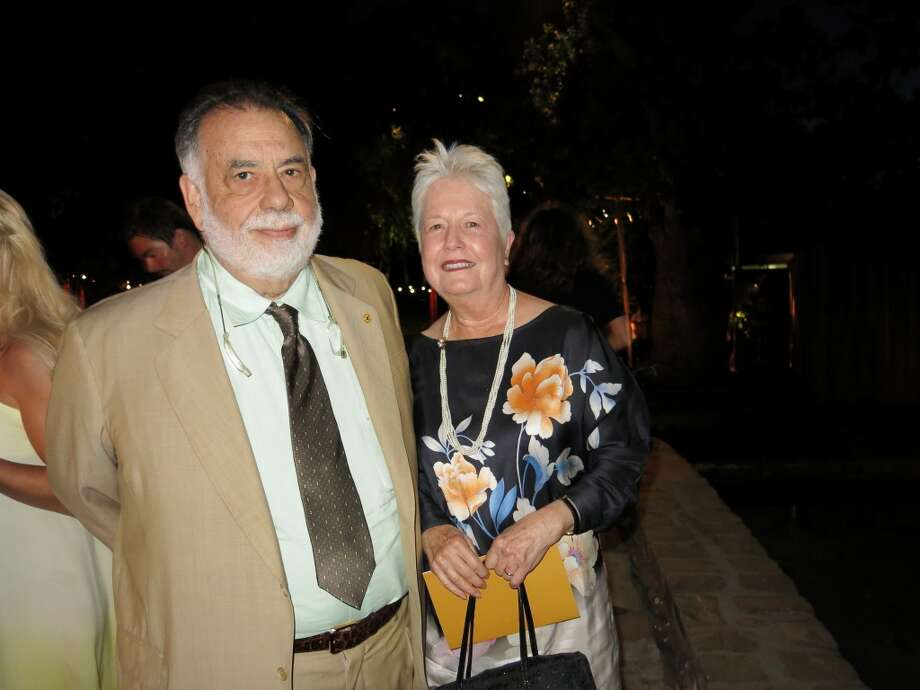 Film director Francis Ford Coppola, who spoke of his and Loren's Italian heritage, with his wife, artist Eleanor Coppola. Photo: Catherine Bigelow