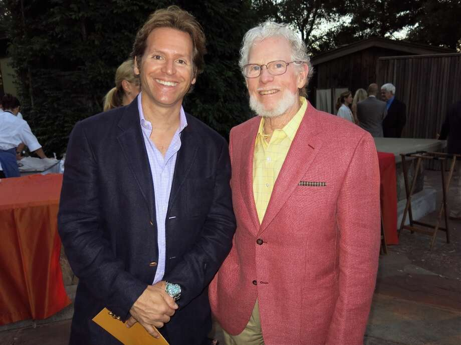 IfOnly.com founder Trevor Traina (left) with storied vintner Bill Harlan. Photo: Catherine Bigelow
