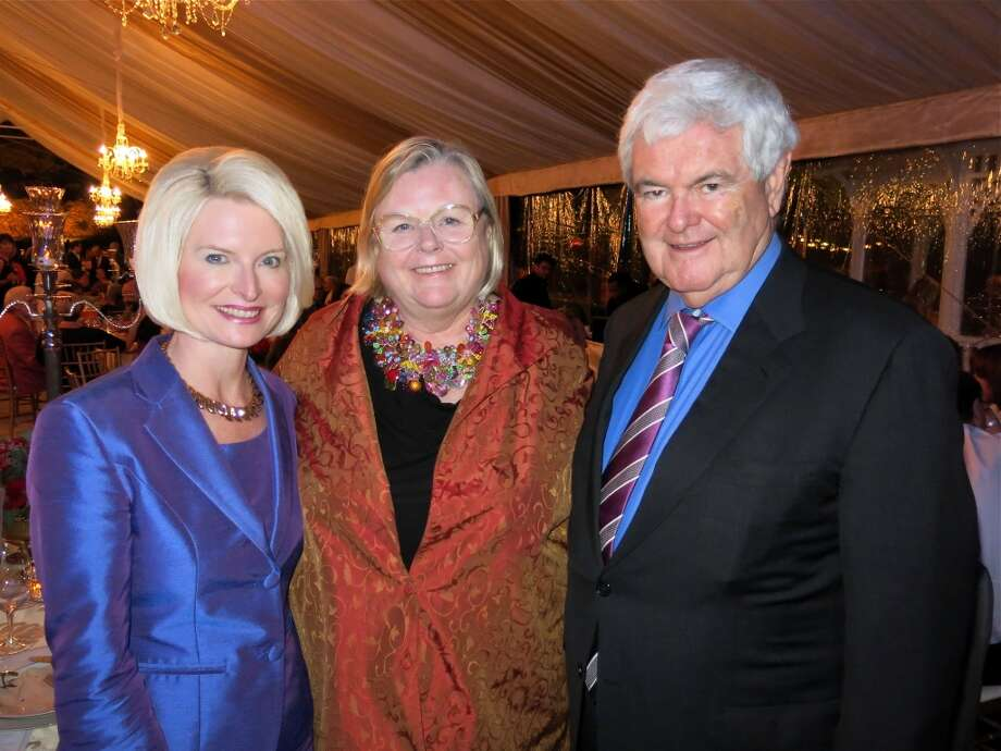 Callista Gingrich (left) with Donna Miller Casey and former Speaker of the House Newt Gingrich. Photo: Catherine Bigelow