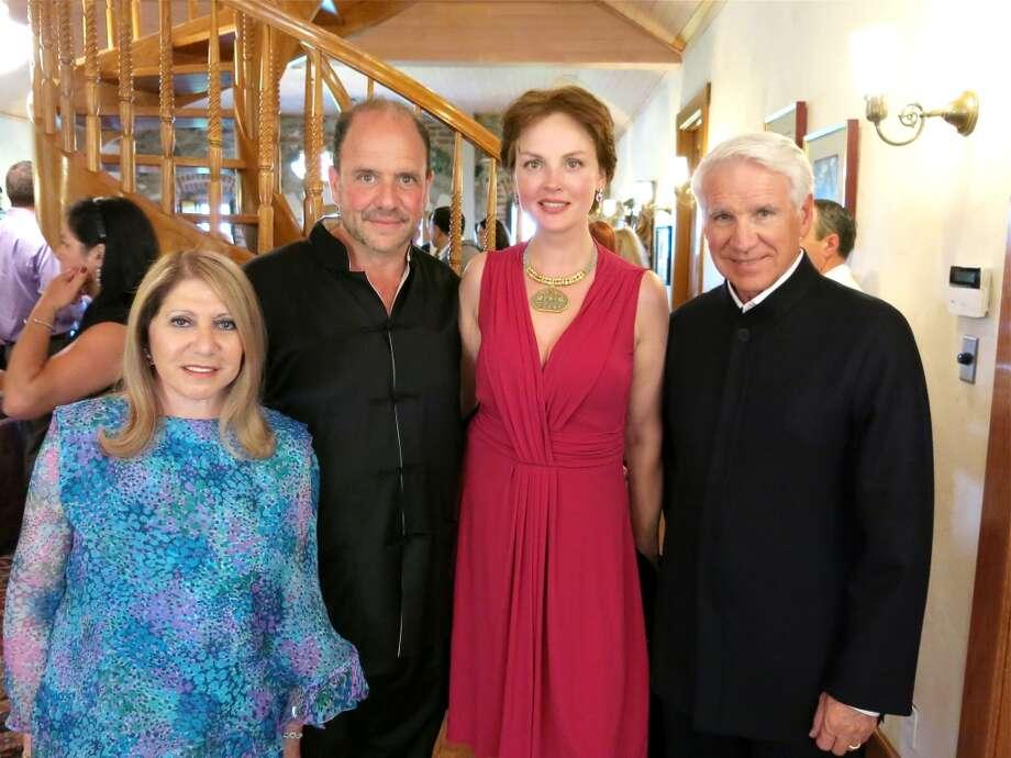 Athena Blackburn (left) with Festival del Sole co-founder Barrett Wissman and his wife, Nina Kotova, and festival board member Timothy Blackburn. Photo: Catherine Bigelow