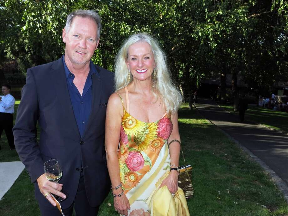 IfOnly.com exec Michael Murphy and Nickel & Nickel vintner Beth Nickel, who transformed the grounds of Far Niente Winery with her late husband, Gil Nickel. Photo: Catherine Bigelow