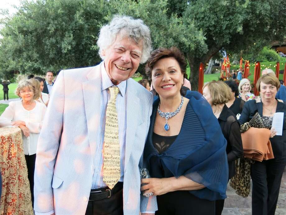Super Festival del Sole supporters Gordon Getty and Maria Manetti Shrem. Photo: Catherine Bigelow